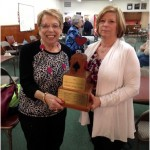 Carol Stevens and Anne Atwood won the Friendly Bridge Trophy, April 2014